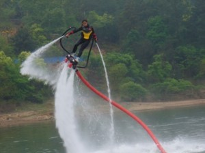 Compétition de jet ski volant à Qingdao